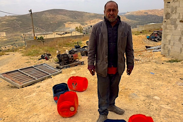 Samir, who lives on the outskirts of the West Bank village Urif, has been repeatedly attacked by settlements from the nearby outposts. (Edo Konrad)