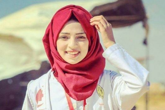 The photo of Razan that circulated on social media.