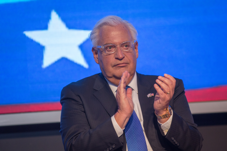 U.S. Ambassador to Israel David Friedman speaks during an American Independence Day celebration at Avenue in Airport City, July 3, 2018. Photo by (Miriam Alster/Flash90)