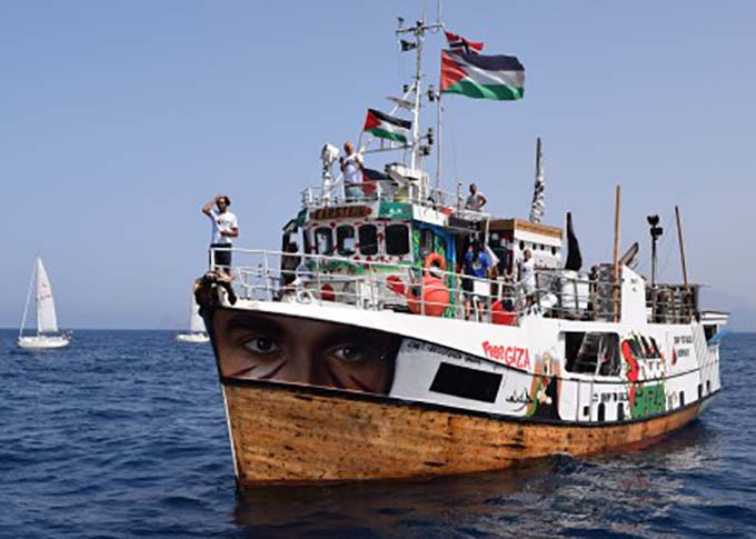 An undated photo of 'Al Awda,' one of several boats carrying aid in an attempt to break the siege on Gaza, which was intercepted by the Israeli Navy on Sunday. (Freedom Flotilla Coalition)