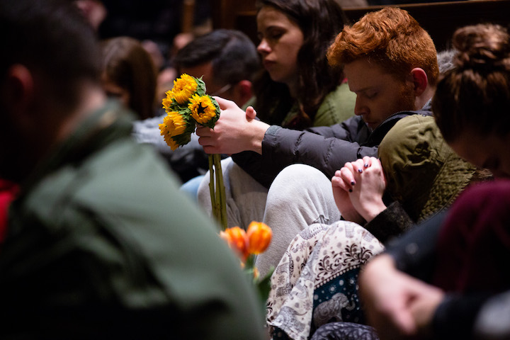 Mourners take part in a vigil for the victims of the shooting at Tree of Life Congregation, Pittsburgh, Pennsylvania, October 29. (Governor Tom Wolf/CC BY 2.0)