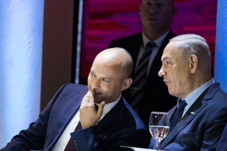 File photo of Israeli Prime Minister Benjamin Netanyahu and Education Minister Naftali Bennett. (Yonatan Sindel/Flash90)