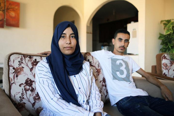 Rola Abu Obeid and her brother Mohammed. (Mohamed Al Hajjar)