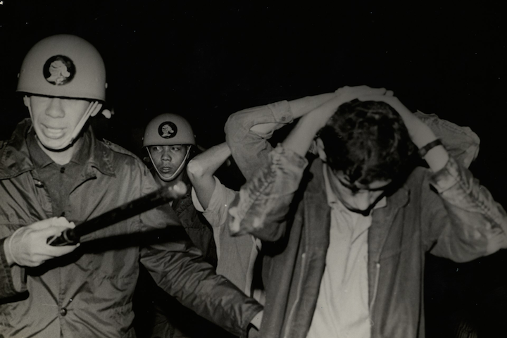 Brazilian police arrest students during a protest against the military dictatorship, June 20, 1968. (Brazilian National Archives)