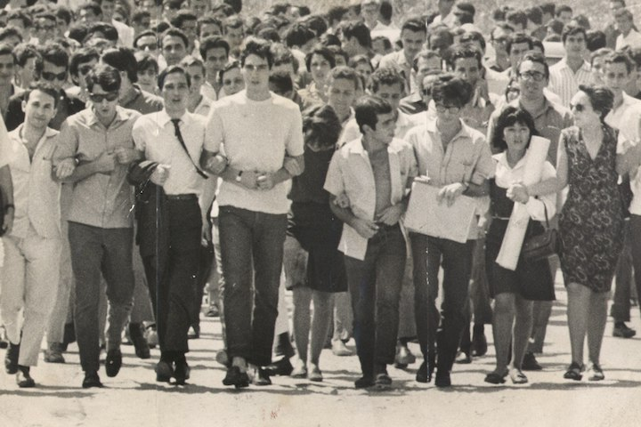 Brazilian students march against the military dictatorship, September 9, 1966. (Brazilian National Archives)