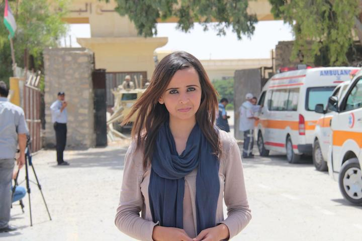 Gaza journalist Wafaa Abu Hjajj. 'For 12 years I've been carrying a temporary ID that amounts to nothing.' (Mohamed Al Hajjar)
