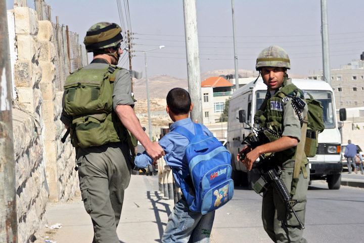 Illustrative photo of Israeli security forces arresting a Palestinian child. (Activestills.org)