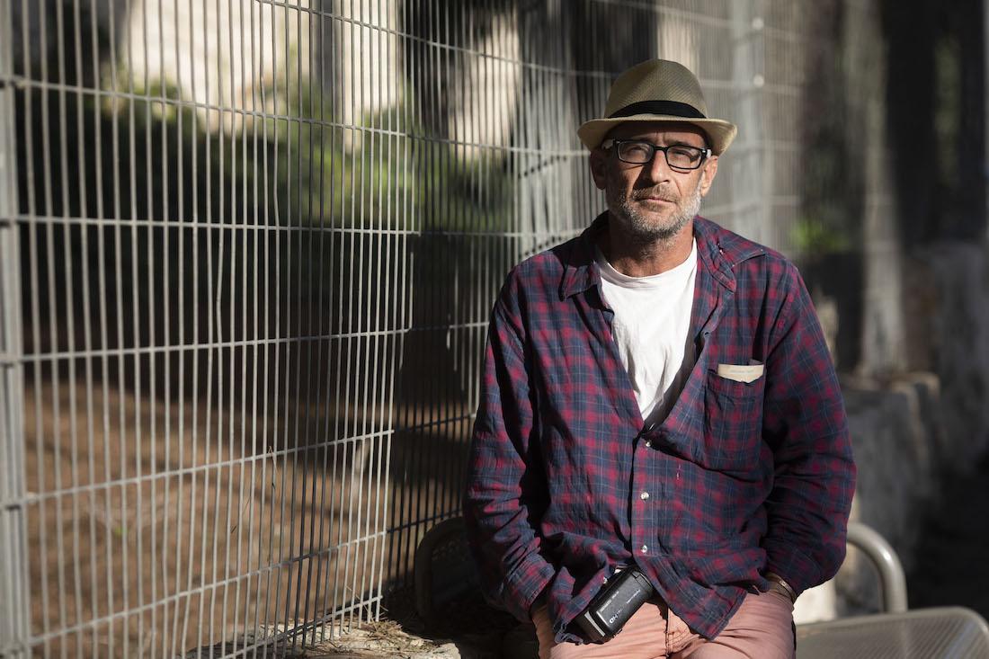 Anti-occupation activist Guy Hirschfeld. (Oren Ziv)