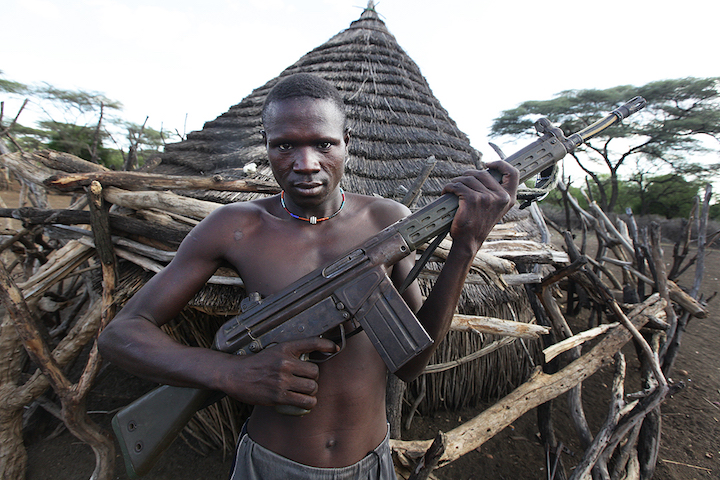 Illustrative photo of South Sudanese combatant. (Steve Evans/CC BY 2.0)