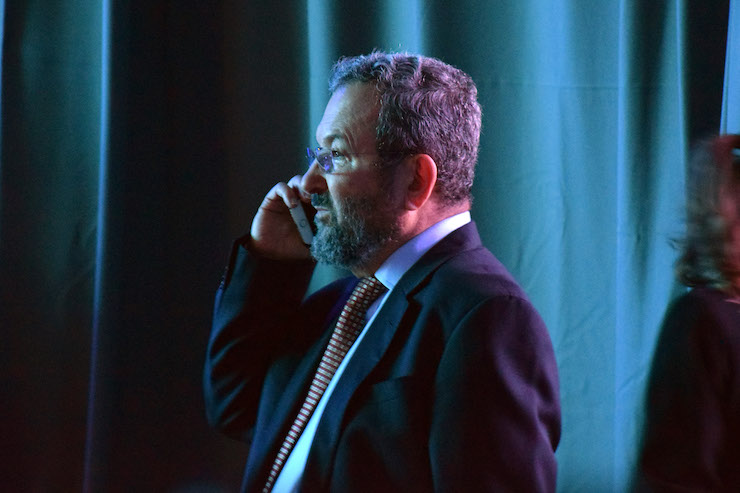 Democratic Union Party candidate Ehud Barak, June 23, 2017. (Michael Schaeffer Omer-Man)