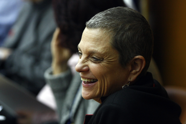 Former Labor MK Yuli Tamir seen in the Knesset, December 15, 2009. (Abir Sultan/Flash 90) ????