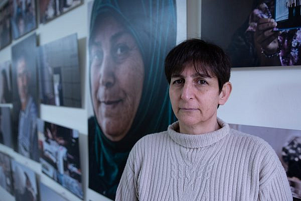 Sahar Francis, Director of Addameer, seen at the organization's offices in Ramallah, the West Bank on February 19, 2019. (Photo: Mohannad Darabee for +972 Magazine)