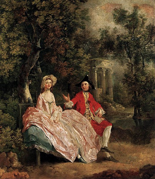 Thomas Gainsborough, Conversation in a Park, 1746. (WikiCommons)