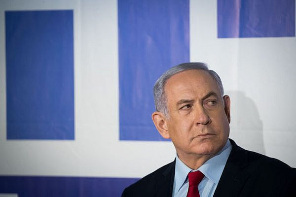 Israeli Prime Minister and head of the Likud party Benjamin Netanyahu seen after delivering a statement to the media at the Prime Minister residence in Jerusalem on March 20, 2019. (Yonatan Sindel/Flash90)