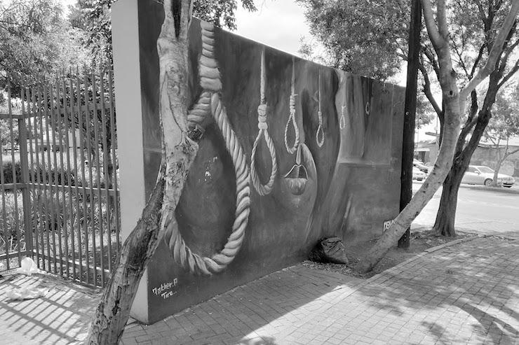 A mural outside the Sharpeville memorial, Sharpeville, South Africa. (Samer Badawi)