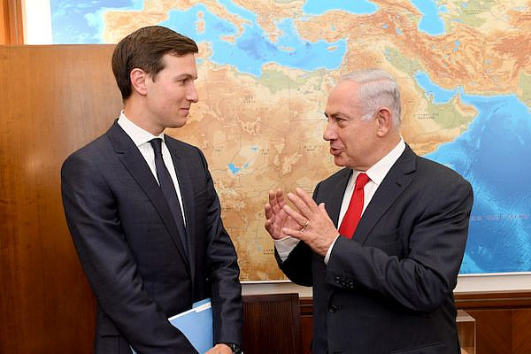Jared Kushner meets with Israeli Prime Minister Netanyahu in Jerusalem. (File photo/Handout, U.S. Embassy)