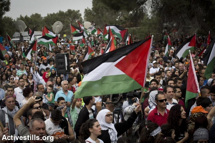 Palestinian citizens of Israel take part in the March of Return to the village of Lubya in northern Israel, May 6, 2014. (Oren Ziv/Activestills.org)