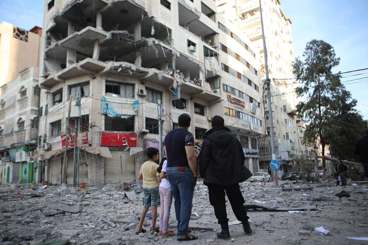 Bombed out buildings in Gaza City, May 5, 2019. (Mohammed Al Hajjar)