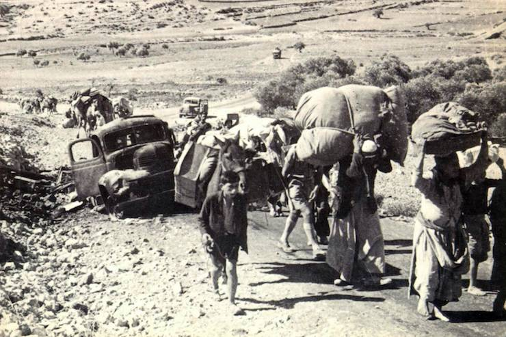 Illustrative photo of Palestinian refugees fleeing during the Nakba.