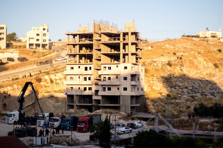 One of several buildings slated for demolition in the East Jerusalem neighborhood of Sur Baher, July 22, 2019. (Emily Glick)