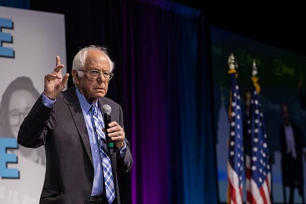 Sen. Bernie Sanders (D-VT) speaks at the 2019 J Street National Conference, October 28, 2019. (Photo courtesy of J Street)