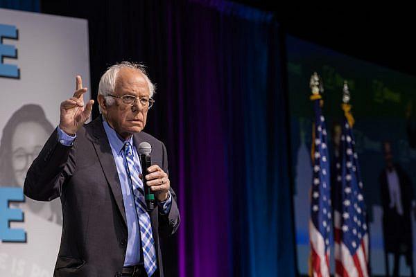 Sen. Bernie Sanders (D-VT) speaks at the 2019 J Street National Conference, October 28, 2019. (Photo courtesy of J Street)