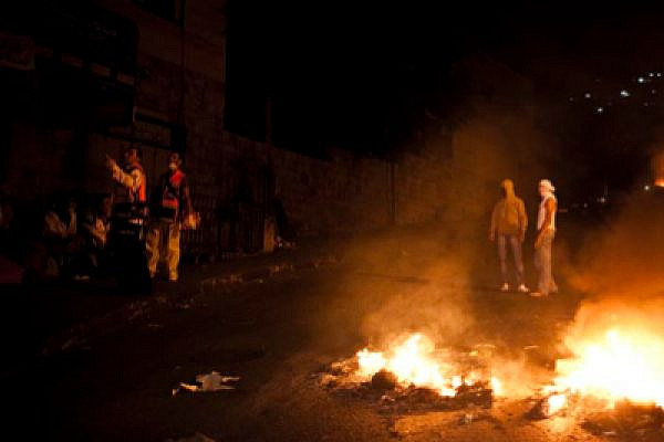 Rioting in Silwan (photo: Activestills.org)