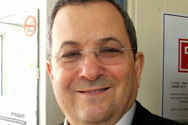 Minister of Defense Ehud Barak. Would you buy a used car from this man? (photo: Lisa Goldman)