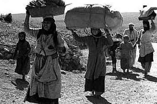 Palestinian refugees in the Galilee, 1948 (photo: palestineremembered.com)