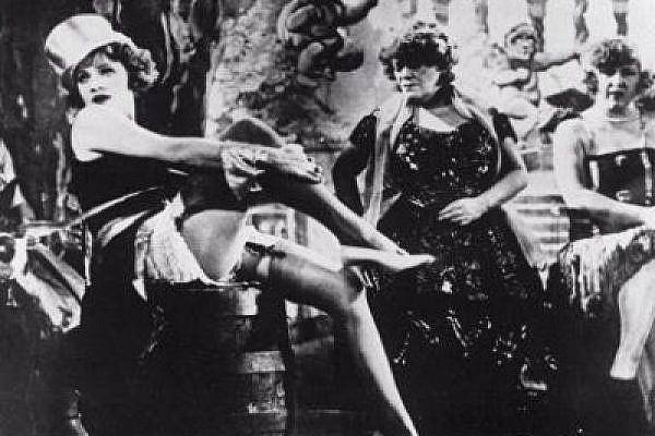 Marlene Dietrich in Blue Angel, a renowned Weimar-era film.