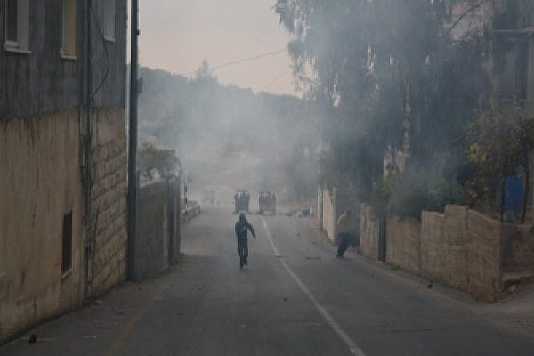 The West Bank Village of Nabi Saleh Covered in Tear Gas on International Human Rights. Photo: Joseph Dana