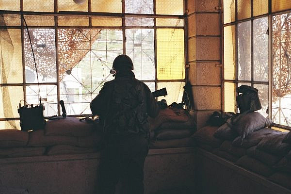 An IDF post inside a Palestinian home (photo: breaking the silence)