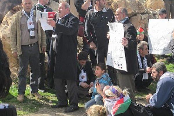 Demonstration in Beit Ummar. Photo: PSP