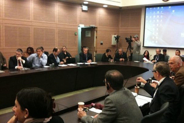 Knesset committee hearing on J Street (Photo: Mairav Zonszein)