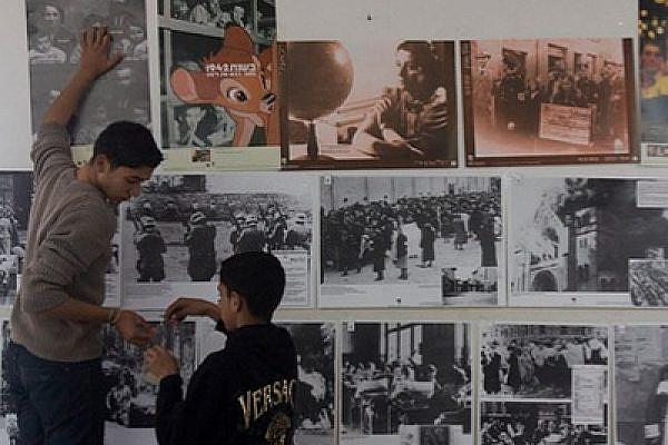 Holocaust exhibition in Nil'in (photo: Oren Ziv/Activestills.org)