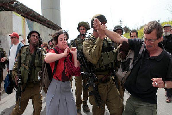 Israeli army violence in Beit Ummar. Photo: Activestills.org