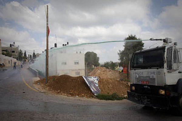 The Skunk in action in Nabi Saleh Photo: Oren Ziv/activestills.org