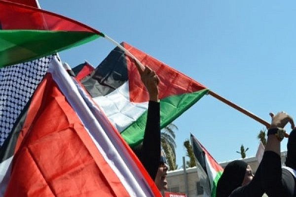 Demonstrators in support of Palestinian statehood, Jerusalem, 15 July 2011 (Photo: Dahlia Scheindlin)