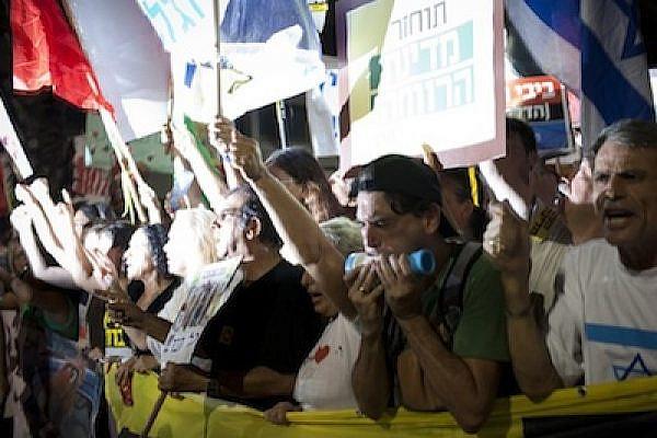 Protesters in Tel Aviv Aug 6 J14 ActiveStills