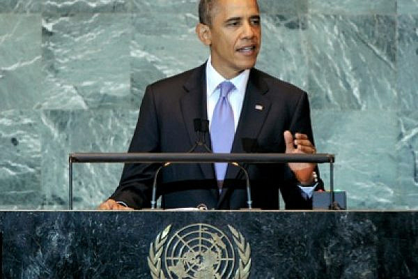President Obama addresses the sixty-sixth opening session of the UN General Assembly (photo: UN/ Marco Castro)