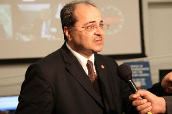 MK Ahmed Tibi at the UN Media Centre (photo: Lisa Goldman)