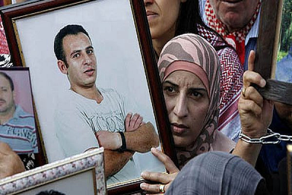 Prisoner rally in Ramallah last week. Photo by Activestills.org