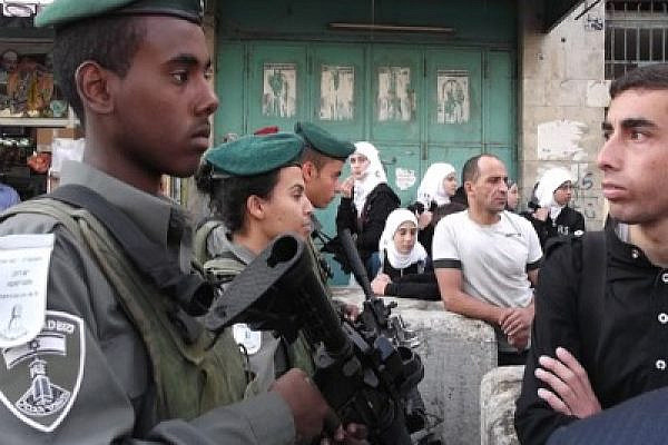 Hebron students demonstrate against security restrictions, October 2011 (Photo: Ben Lorber)