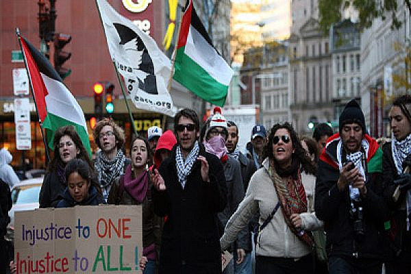 Occupy Bostonians in solidarity with Palestine. Photo by Activstills.org