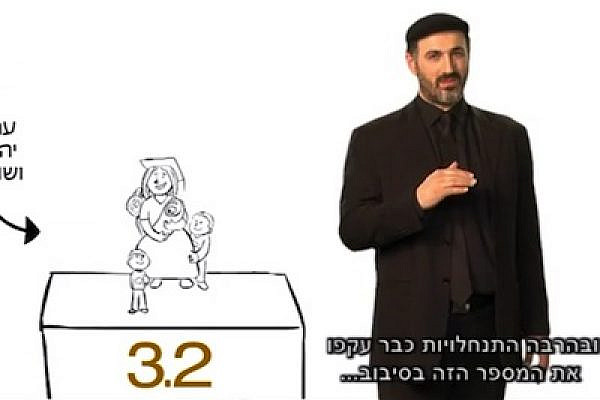 """Screenshot Yesha Council video, """"Time is on our side"""""""