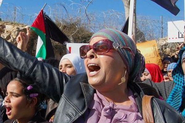Protesters demonstrate against Israel's plans to relocate tens of thousands of Bedouin (photo: Jillian Kestler-D'Amours)