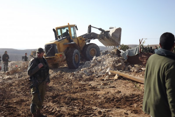 Demolition in Umm el Kheir Jan 2012 (photo: Operation Dove)