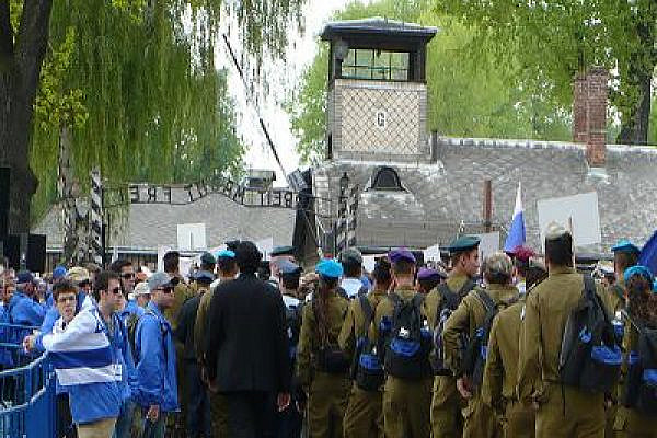 IDF soldiers visiting Auschwitz (Photo: Whistling in the Dark/flickr)