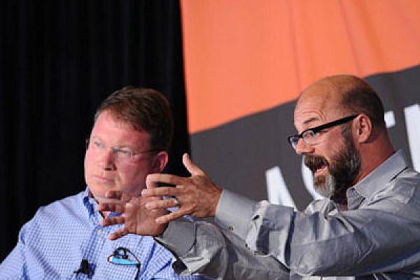 Jeffrey Goldberg (L) with Andrew Sullivan at the Aspen Ideas Festival (Photo: The Aspen Institute)