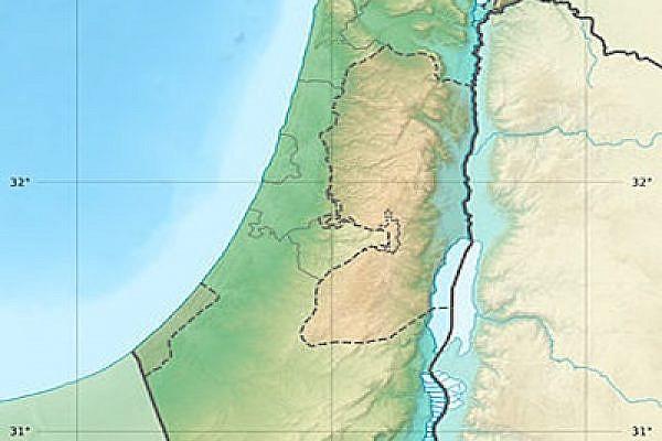 Map of Israel/Palestine (photo: Eric Gaba/wikimedia)